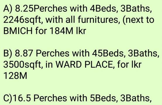 COl 7 properties for reasonable price
